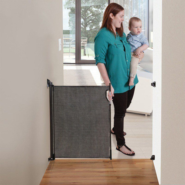 Dreambaby Retractable Stair Gate - Black open