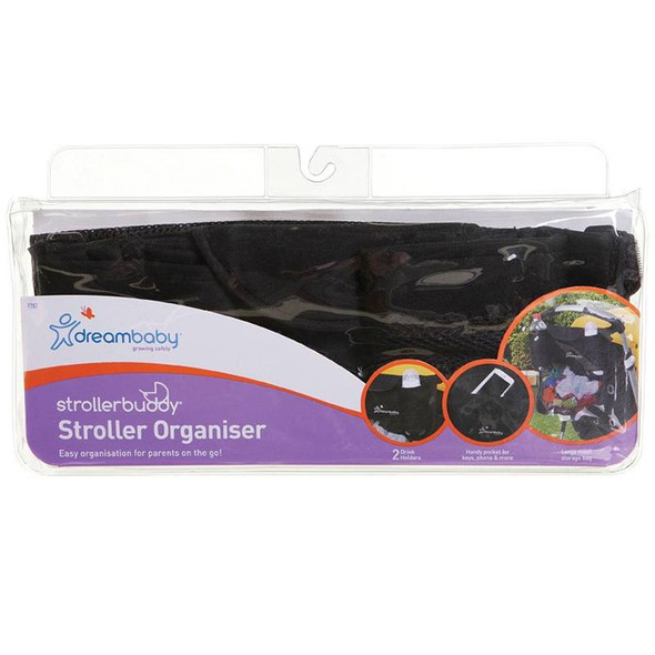 Dreambaby Stroller Buddy Organiser with 2 Cup Holders box