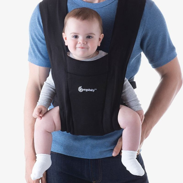 Ergobaby Embrace From Newborn - Pure Black male