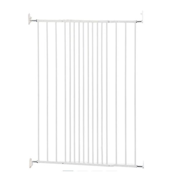 Babydan Extra Tall Extending Metal Pet Gate, White (62.5-106.8Cm)