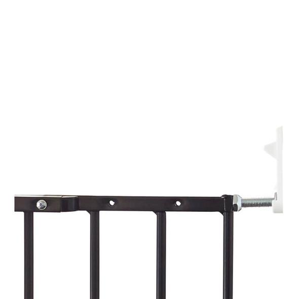 Babydan Extra Tall Extending Metal Pet Gate, Black (62.5-106.8Cm) Close