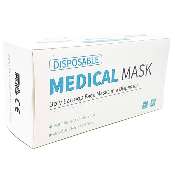 Medical Face Masks - 3Ply Disposable box