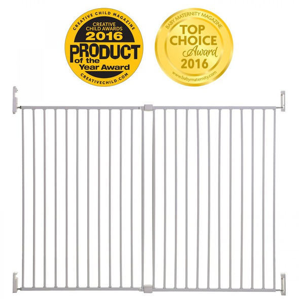 Dreambaby Broadway Gro-Gate Extra Tall & Extra Wide - White Award
