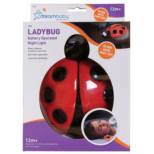 Dreambaby Ladybug Night Light (Battery Operated)