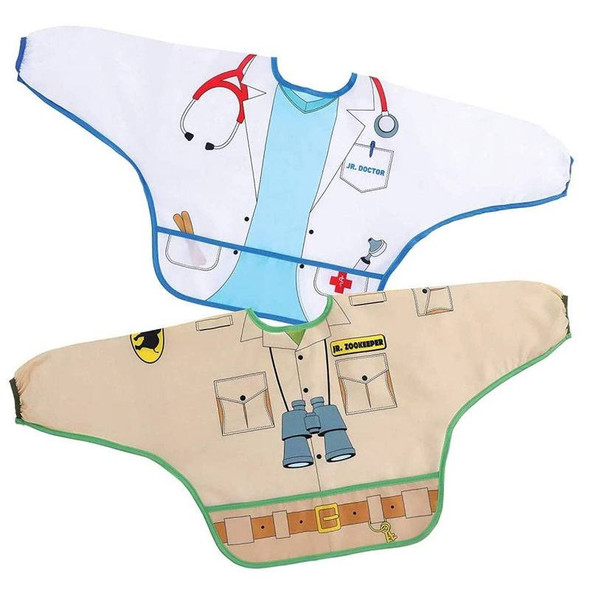 Dreambaby Bib / Smocks With Sleeves - Zookeeper & Doctor 2Pk