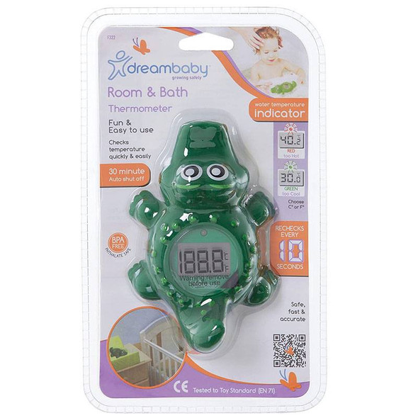 Dreambaby Digital Crocodile Room & Bath Thermometer