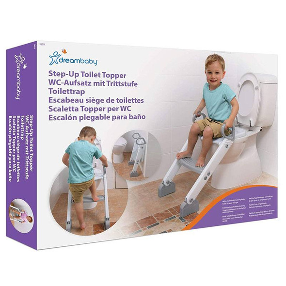 Dreambaby Ladder Step-Up Toilet Trainer (Grey/White) Box