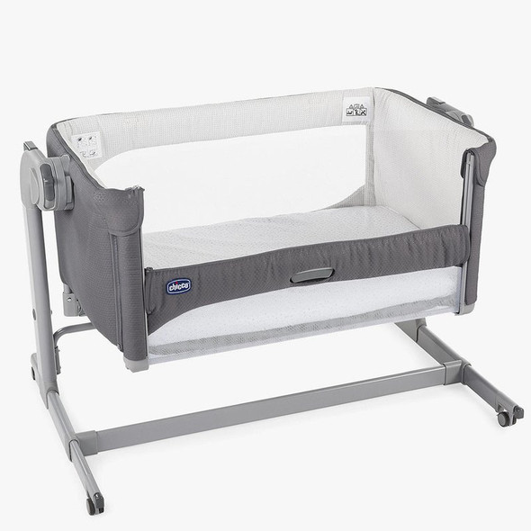 Chicco Next2Me Magic Side Sleeping Crib Moon Grey open