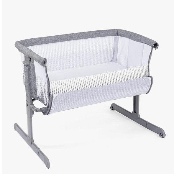 Chicco Next2Me Air Side Sleeping Crib Titanium open