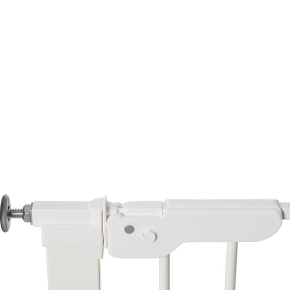 BabyDan Premier Pressure Indicator Gate, White (73.5cm - 105.6cm) latch closed