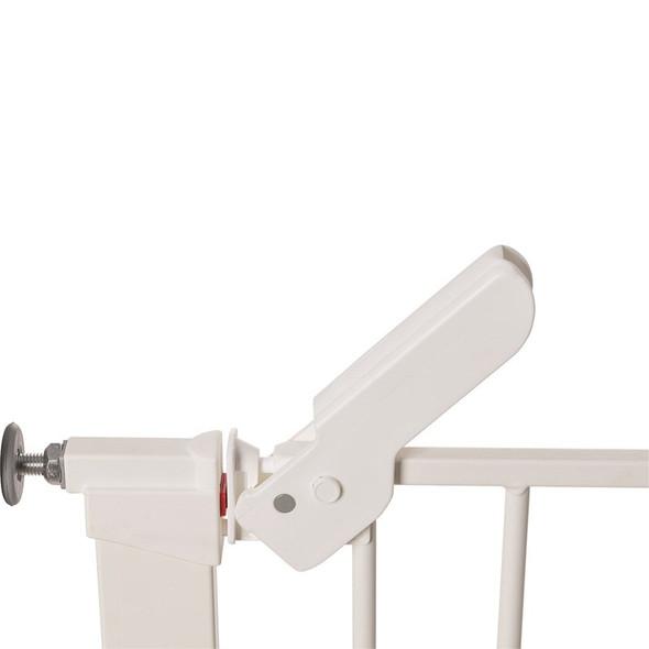 BabyDan Premier Pressure Indicator Gate, White (73.5cm - 105.6cm) latch open