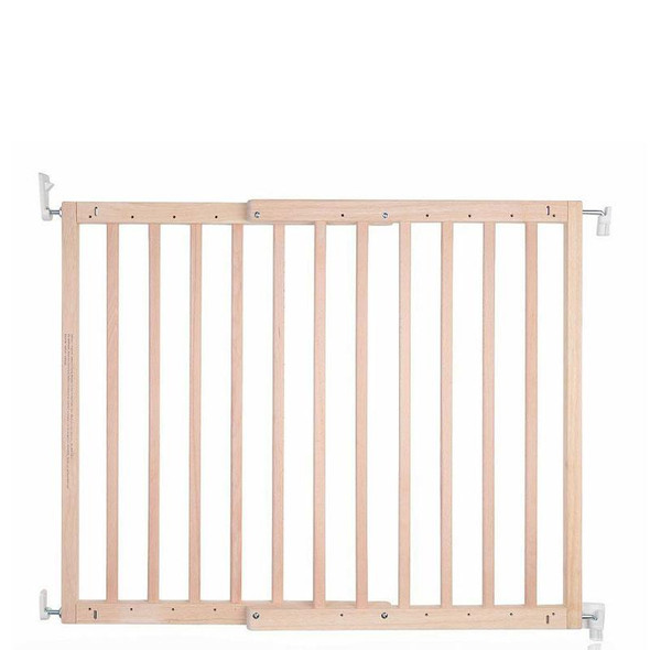 Safetots Chunky Wooden Screw Fit Stair Gate Natural