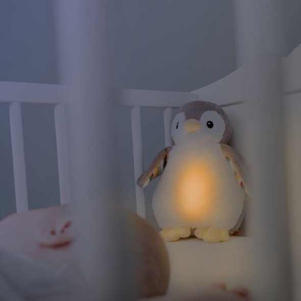 ZAZU Phoebe The Penguin Baby Sleep Shusher Night mode