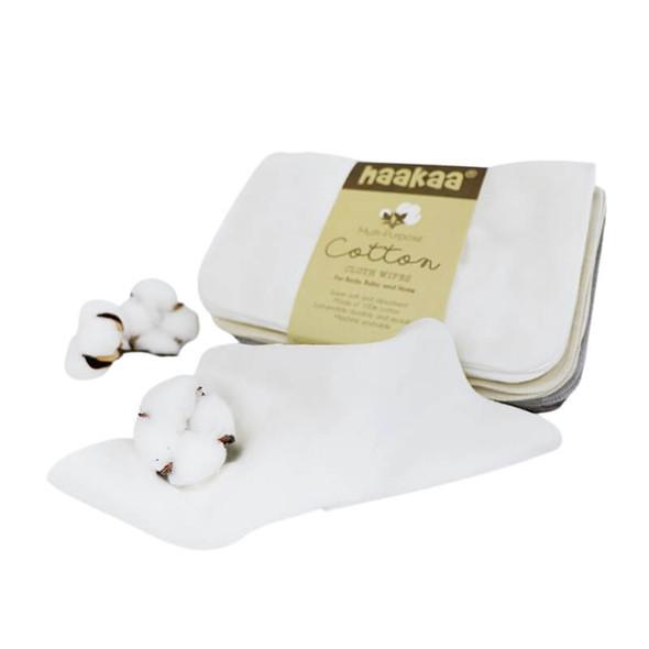 Haakaa Cotton Cloth Wipes - 20×15cm 8pc