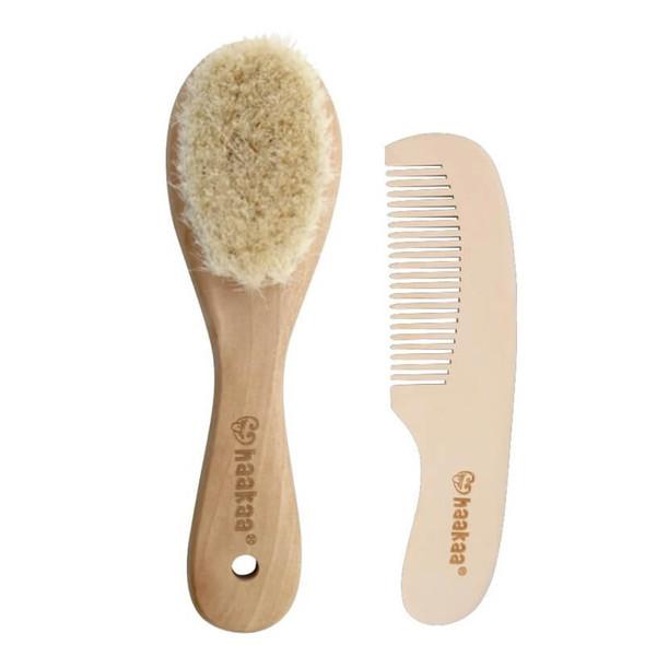 Haakaa Goat Baby Brush & Comb Set