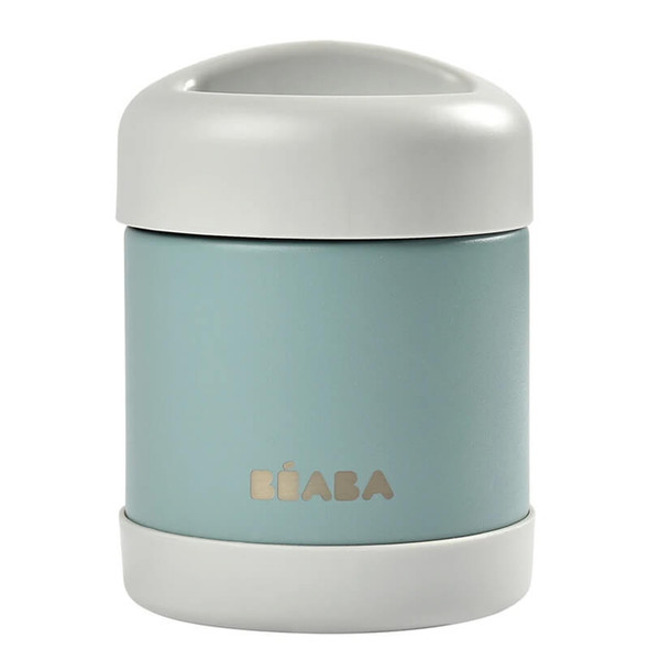 Beaba Stainless steel storage pot 300ml - Light Mist/Eucalyptus Green