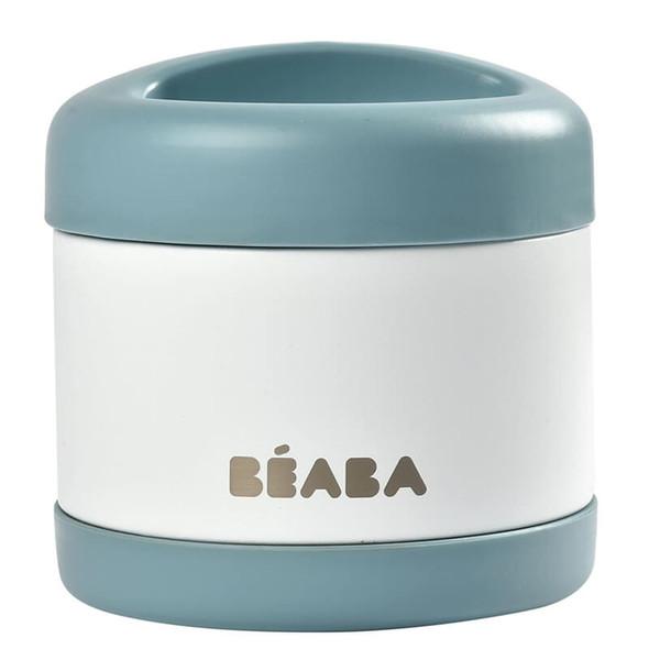 Beaba Stainless steel storage pot 500ml - Baltic Blue/White
