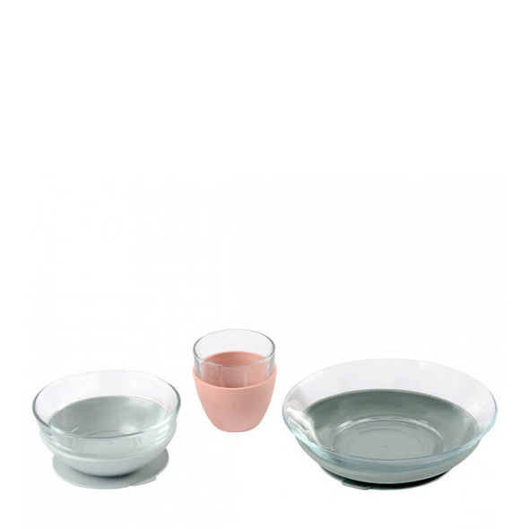 Beaba Glass Meal Set - Eucalyptus