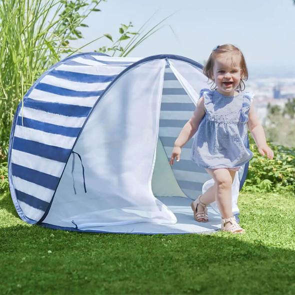 Babymoov Anti-UV Sun Tent 50+ UPF Protection - Blue Stripe Live