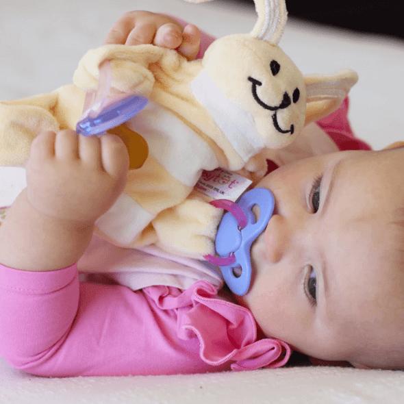 Sleepytot Baby Comforter Bunny Cream/Grey Live