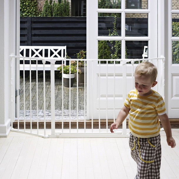 BabyDan Configure Flex Gate Medium - White (90-146 cm)