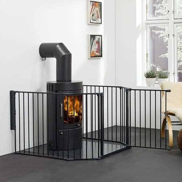 BabyDan Configure Flex XL Hearth Gate Black 90-278cm live