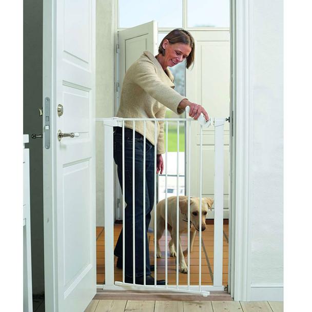 BabyDan Pet Gate Extra Tall - White Inc 1 Ext (73-86cm; Max 120)