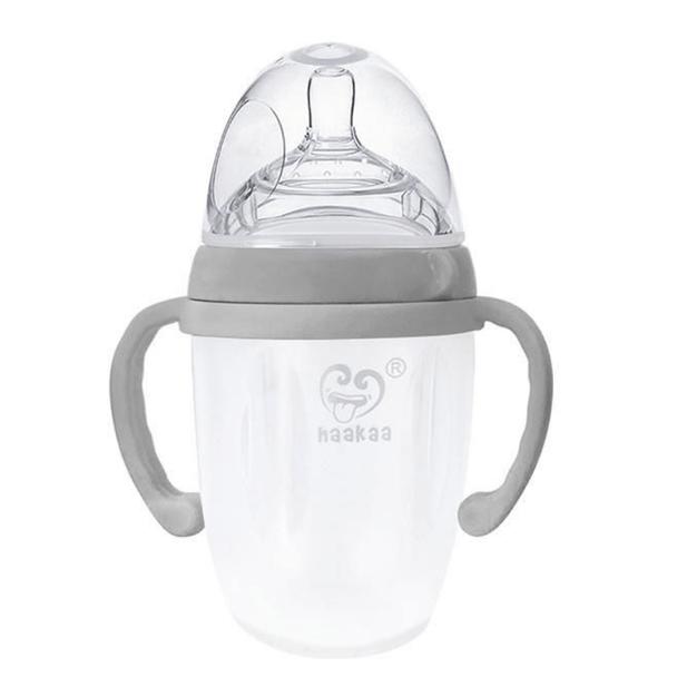 Haakaa Silicone Baby Bottle Grey 250