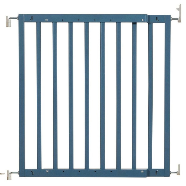 Safetots Chunky Wooden Screw Fit Stair Gate Azure Blue 63.5cm-105.5cm