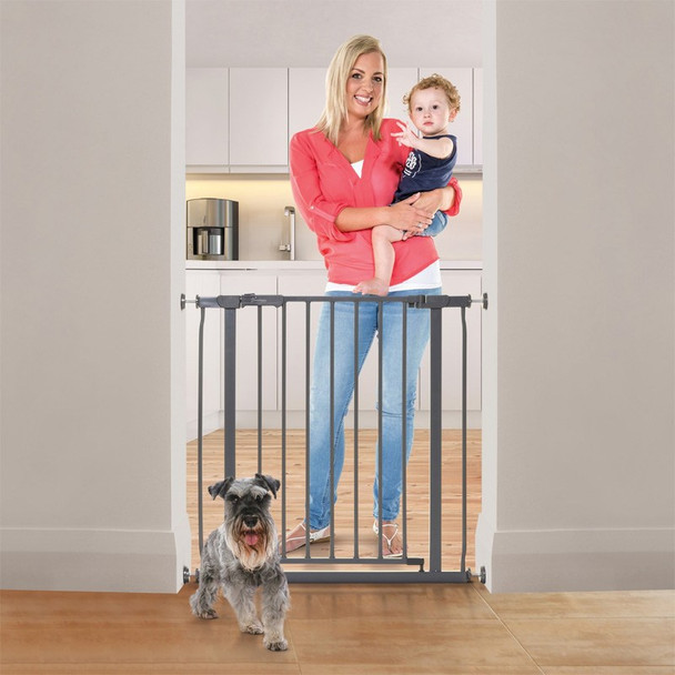 Dreambaby Ava Metal Pressure Safety Gate - Charcoal live