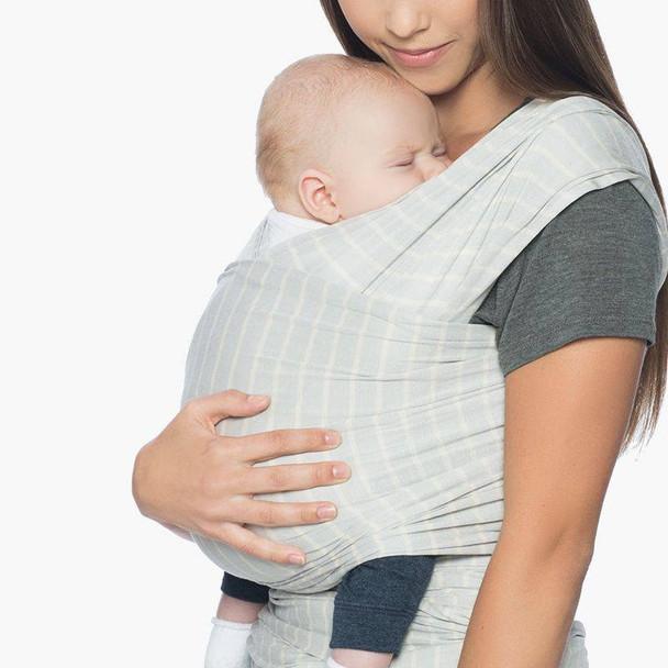 Ergobaby Aura Lightweight Wrap From 3.6kg - Grey Stripes