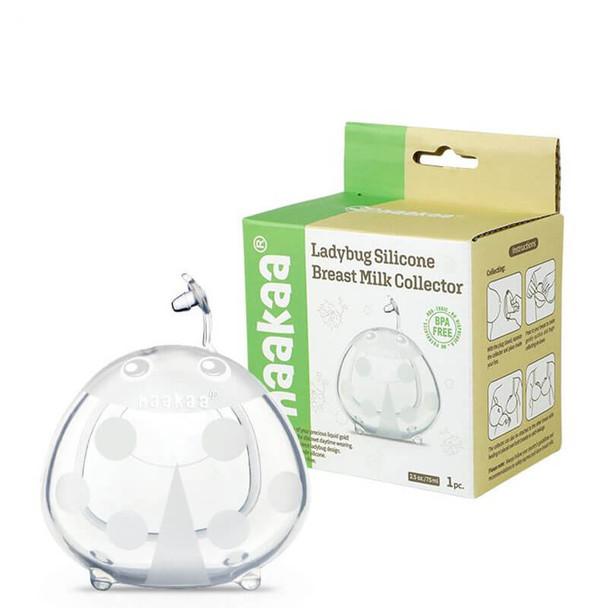 Haakaa Ladybug Silicone Breast Milk Collector 75ml (1 Pk) box