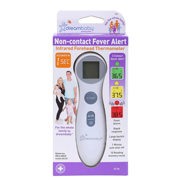 Dreambaby Non Contact Fever Alert Infrared Thermometer Box