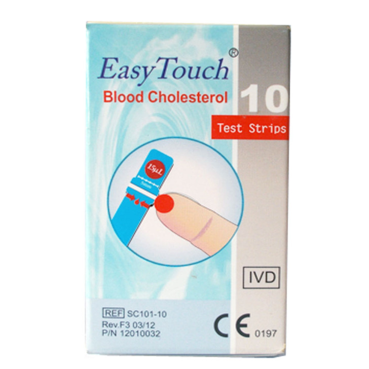 Easy Touch® Cholesterol Strips - 10 Pack