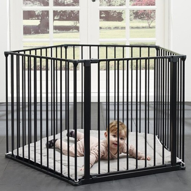 BabyDan 3 in 1 - Playpen, Room Divider & Hearth Gate PLAYPEN image close