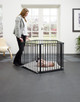 BabyDan 3 in 1 - Playpen, Room Divider & Hearth Gate playpen with mother image