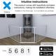 Product BabyDan Configure Flex XL Hearth Gate White 90-278cm Onbox