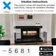 BabyDan Configure Flex XL Hearth Gate Black 90-278cm BabyDan Traditional Fireplace onbox
