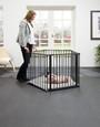 BabyDan 3 in 1 - Playpen, Room Divider & Hearth Gate playpen with mother image