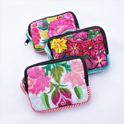 Fair Trade Repurposed Embroidered Huipil Mini Wristlet from Guatemala