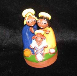 Fair Trade Ceramic Holy Family Nativity from Bolivia