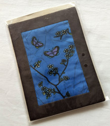 Fair trade batik butterfly card from Nepal