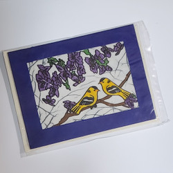fair trade batik goldfinch note card from Nepal