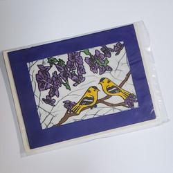 fair trade batik goldfinch note card from Nepal