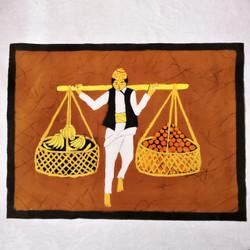 fair trade batik fruit carrier wall art from Nepal