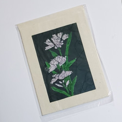 fair trade white lily note card from Nepal
