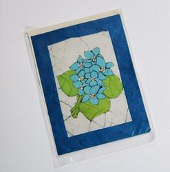 fair trade batik violet note card from Nepal