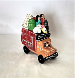 Fair Trade Hand Painted Nativity on a Bus from Peru