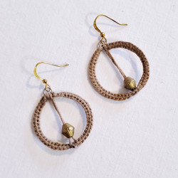 fair trade crocheted earrings with bullet casing from ethiopia