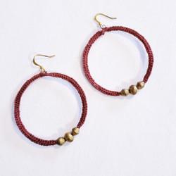 Fair trade crocheted bullet casing bead earrings from Ethiopia